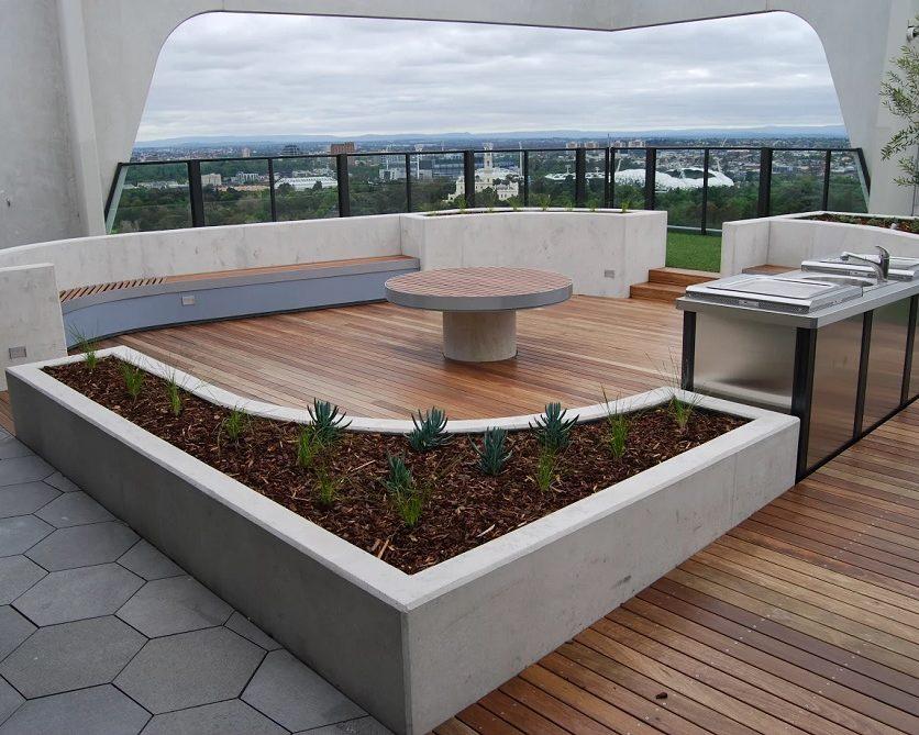 Терраса на крыше Albert Tower, Мельбурн