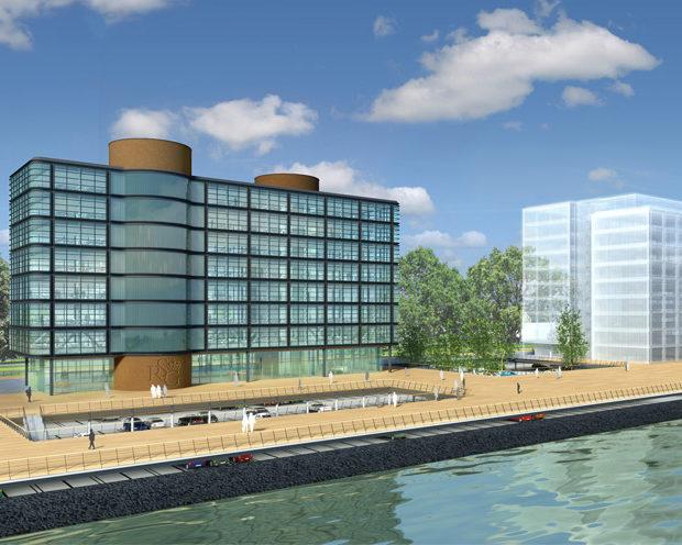 Опоры для террасы — проект Port City, Роттердам