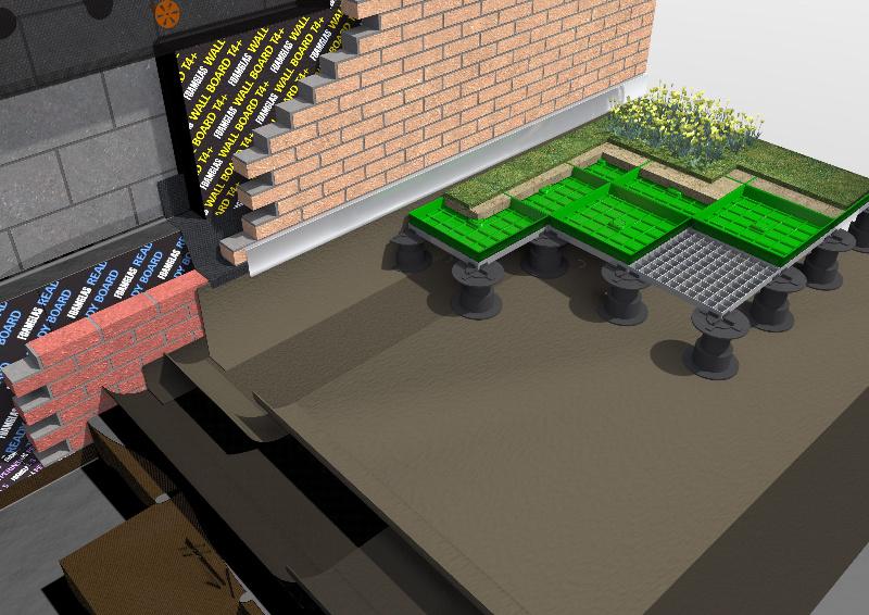 Модульный сад на крыше по технологии BUZON