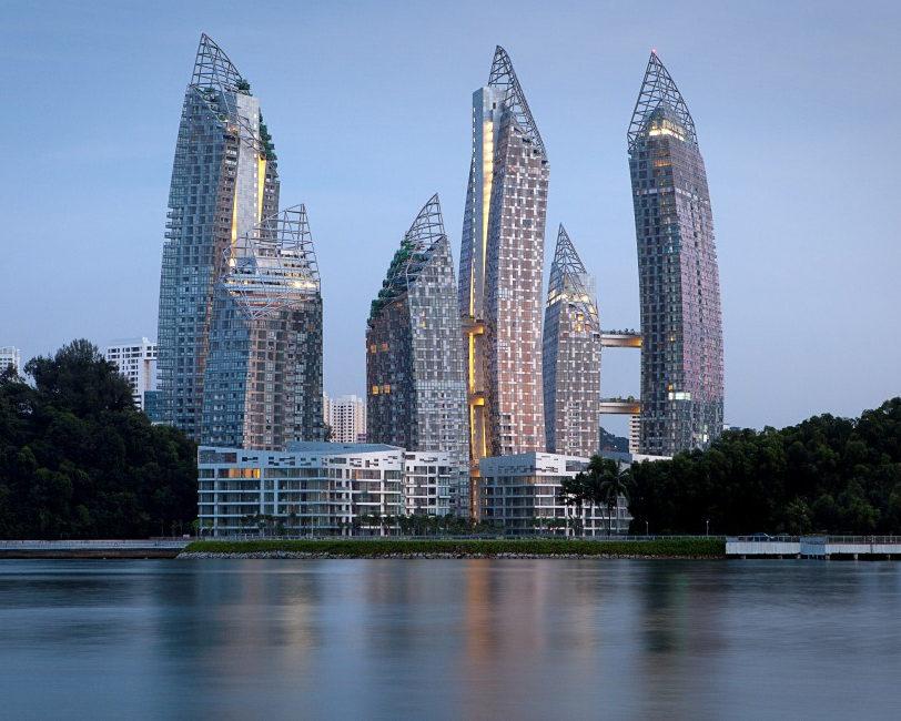 Винтовые опоры — Reflections at Keppel Bay, Сингапур