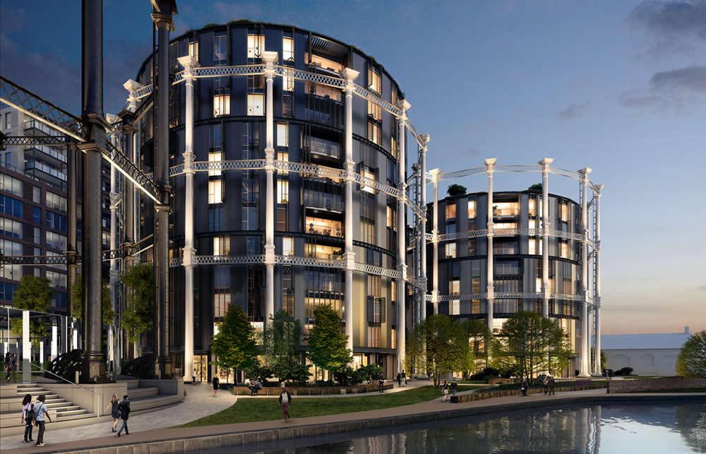 Архитектура демонстрирует проект Gasholders