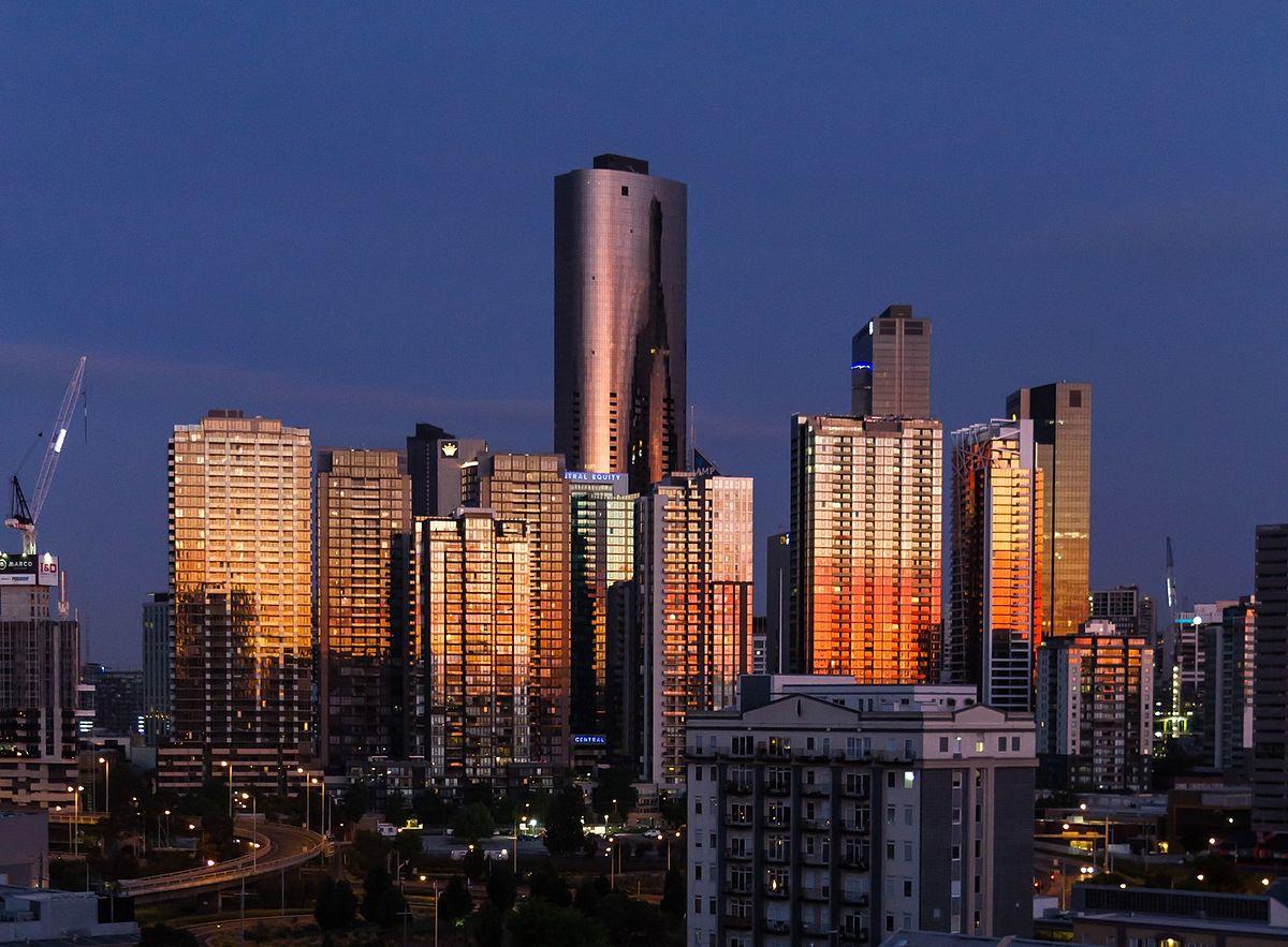 Prima Perl небоскреб в Мельбурне и регулируемые опоры