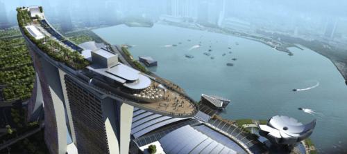 Marina Bay Sands в Сингапуре и винтовые опоры Buzon